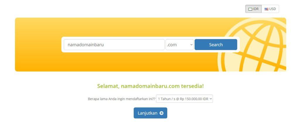 Nama domain tersedia untuk di daftarkan