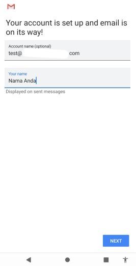Nama email di hp Cara Setting Email di HP