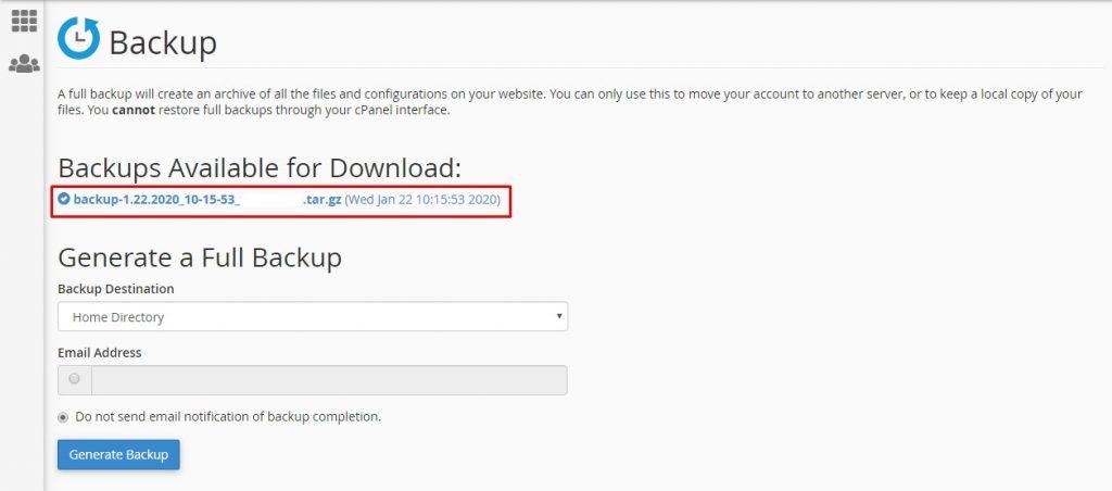 Cara Backup Website Di Cpanel Hosting