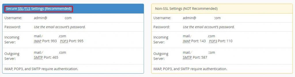 Konfigurasi email imap smtp email hosting