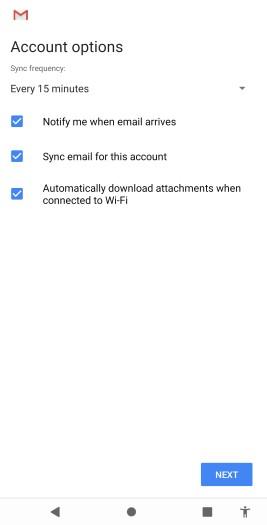 Validasi email di hp berhasil